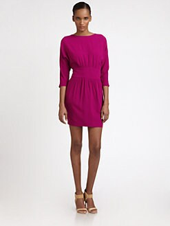 Halston Heritage - Boatneck Sheath Dress
