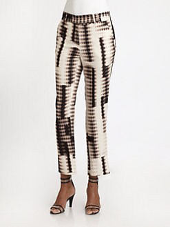 Halston Heritage - Silk/Wool Fading-Dots Pants