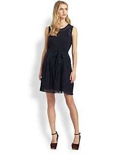 Raoul - Pleat-Front Sheath Dress