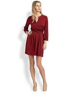 Raoul - Pintucked Belted Dress