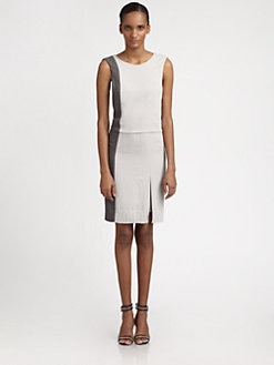 Halston Heritage - Colorblock Ponte Dress