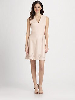 Raoul - Sandy Scalloped-Hem Dress