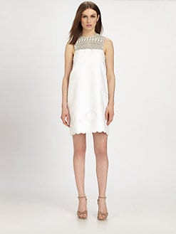 Raoul - Lacey Scalloped Dress