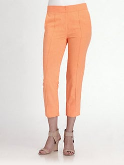 Halston Heritage - Crease-Front Cropped Pants