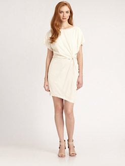 Halston Heritage - Silk Twist-Front Dress