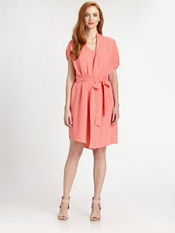 Halston Heritage - Cotton/Silk 3-Way Dress