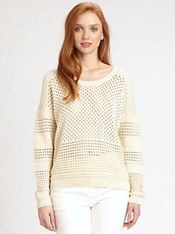 Halston Heritage - Cotton Crewneck Sweater