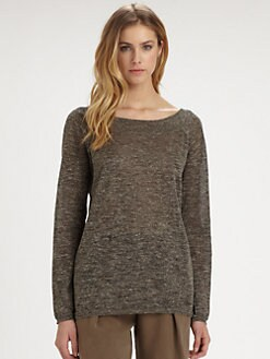 Halston Heritage - Deep V-Back Metallic Sweater