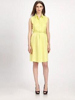 Raoul - Silk Pleat-Center Shirtdress