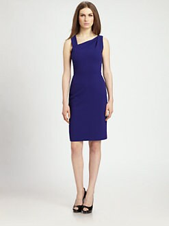 Raoul - Asymmetrical-Neckline Sheath Dress