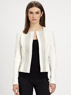 Raoul - Leather Peplum Jacket