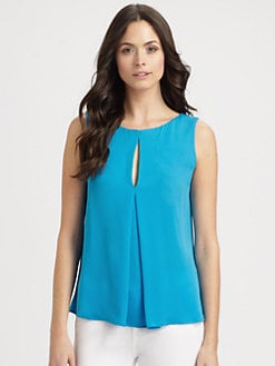 Halston Heritage - Flared Silk Top