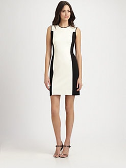 Halston Heritage - Two-Tone Knit Sheath