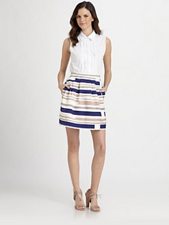 Raoul - Pleated Sleeveless Blouse