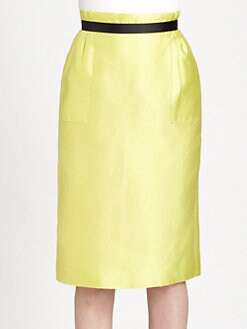 Raoul - Silk/Cotton Square-Pocket Skirt