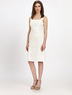 Raoul - Eyelet-Panel Dress