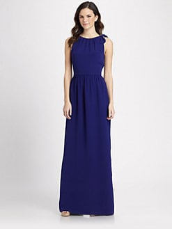 Raoul - Silk Bita Bow Maxi Dress