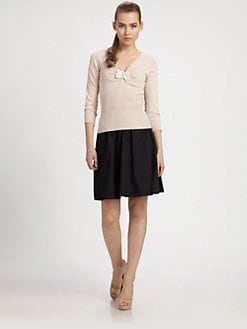 PAULE KA - V-Neck Bow Sweater