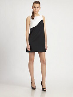 PAULE KA - Colorblock A-Line Dress