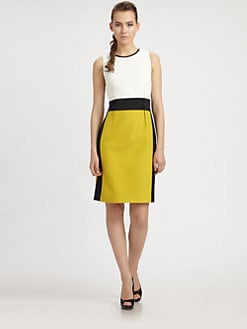 PAULE KA - Colorblock Sheath Dress