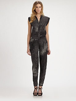 Halston Heritage - Printed Silk Jumpsuit