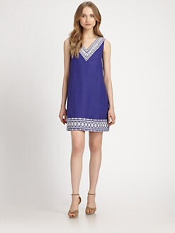 Kate Spade New York - Laureen Cotton/Linen Dress