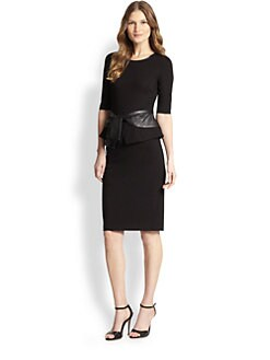 Raoul - Tayla Peplum Tie Dress