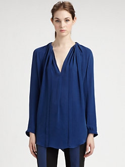 Halston Heritage - Pleated Silk Blouse