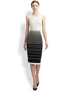 Narciso Rodriguez - Silk-Blend Stripe Dress