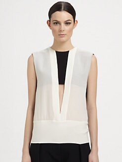 Narciso Rodriguez - Silk Cutout Blouse