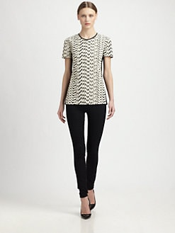 Narciso Rodriguez - Cotton Jacquard Zig-Zag Tee