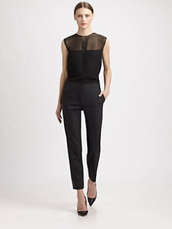 Narciso Rodriguez - Silk Beaded Inset Blouse