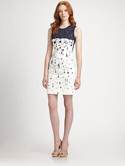 Elie Tahari - Spatter-Print Emory Dress