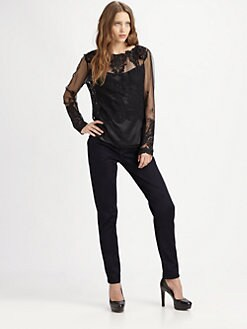 Elie Tahari - Liza Embroidered Blouse