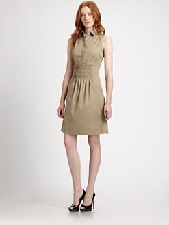 Elie Tahari - Bernarda Smocked Shirtdress