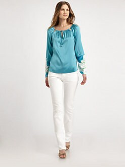 Elie Tahari - Etta Stretch-Silk Blouse