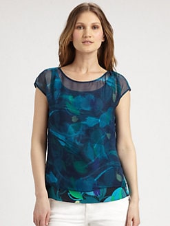 Elie Tahari - Gisella Stretch-Silk Blouse