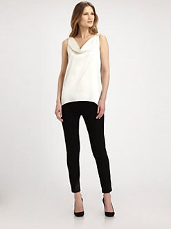 Elie Tahari - Jolene Leather-Trim Leggings