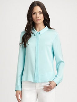 Elie Tahari - Brenda Stretch Silk Blouse