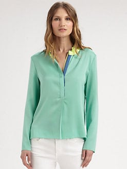 Elie Tahari - Hailey Stretch Silk Blouse
