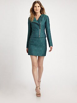 Elie Tahari - Brenna Tweed Moto Jacket