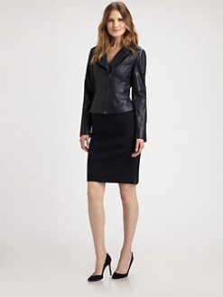 Elie Tahari - Brenna Leather Jacket