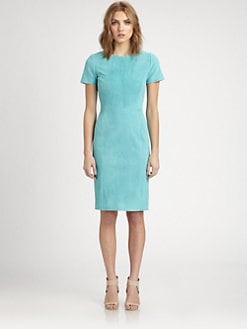 Elie Tahari - Emily Suede Dress