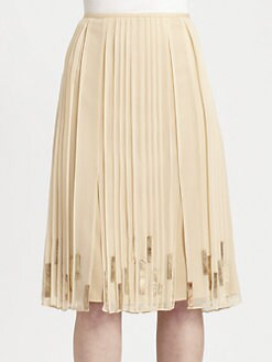 Elie Tahari - Helena Silk Skirt