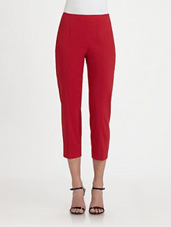 Elie Tahari - Juliette Cropped Linen-Blend Pants