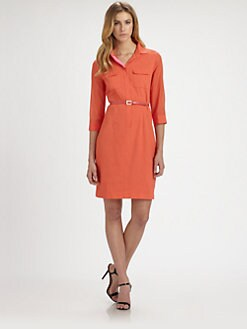 Elie Tahari - Austin Belted Shirtdress