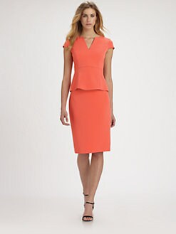 Elie Tahari - Parker Crepe Peplum Top