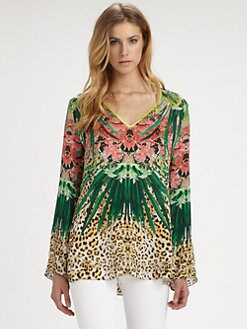 Elie Tahari - Kendall Silk Printed Top