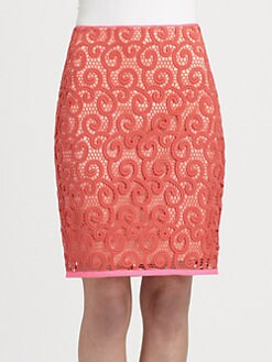 Elie Tahari - Bella Embroidered Skirt