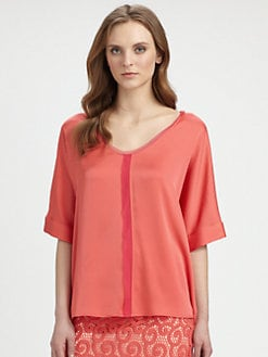 Elie Tahari - Charity Stretch Silk Blouse